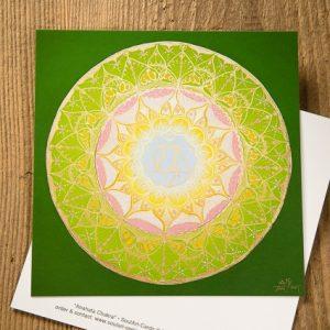 "Mandala Postkarte ""Anahata Chakra"""