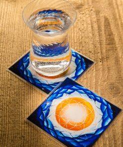 "SoulArt-Seelenkunst Wasser-Energetisierer Mandala ""Zur Quelle"""