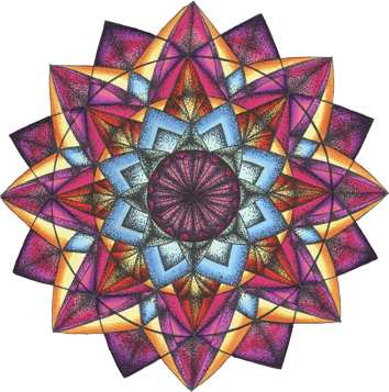 Ausmal-Mandala Zentrierung