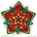 "Ausmal-Mandala ""Sternenfest"" – Ausmal-Beispiel"
