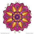 Ausmal-Mandala Sternenmatrix – Ausmal-Beispiel